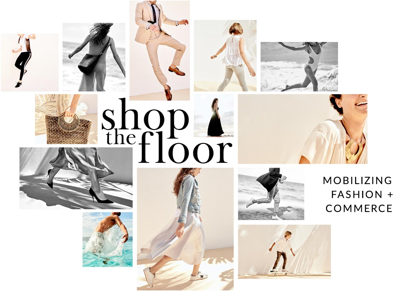 Shop The Floor banner collage